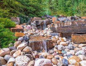 Custom Water Feature in Canmore
