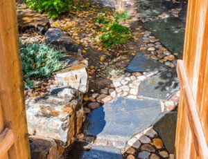 Canmore Stone walkway